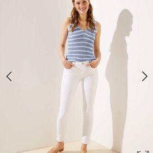 Loft White Crop Jeans